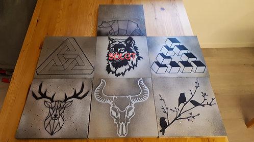Kunst i forskjellige mønster