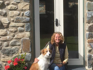 Kate Humble and Teg stayed with us!