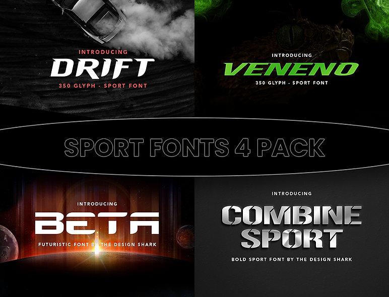 Sport Font 4 Pack