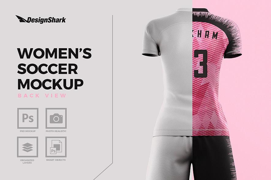Women's Soccer Mockup Kit - Back View