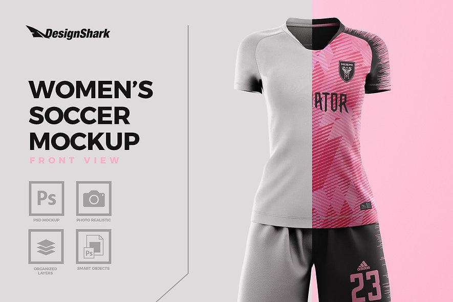 Women's Soccer Mockup Kit - Front View