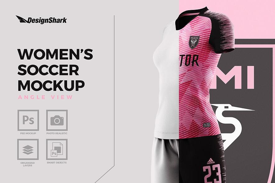 Women's Soccer Mockup Kit - Angle View