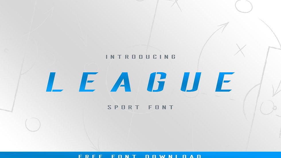 FREE League Stencil Italic Typeface