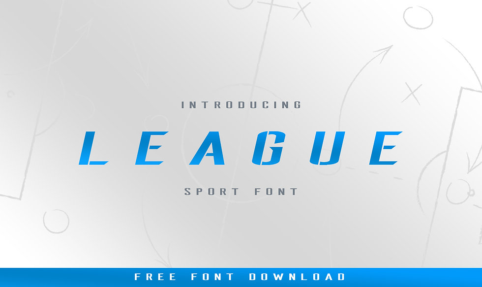 FREE League Stencil Italic Typeface
