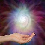 Sensing Spiral Energy  -  Female hand ou