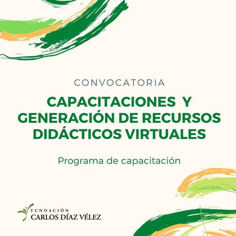 Convocatoria abierta: capacitaciones y generación de recursos didácticos virtuales