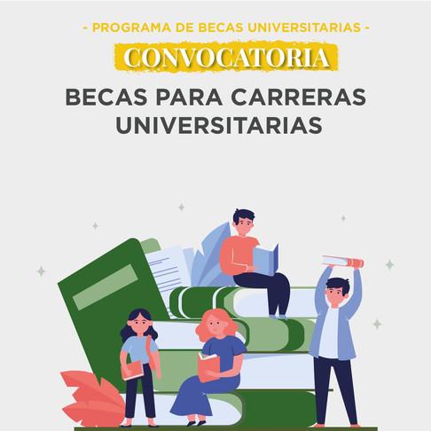 Convocatoria abierta - Becas universitarias