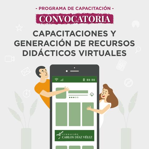 Convocatoria para capacitaciones y generación de recursos didácticos virtuales