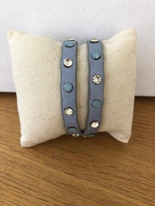 Wraparound Bracelet with Crystal & Opal Studs