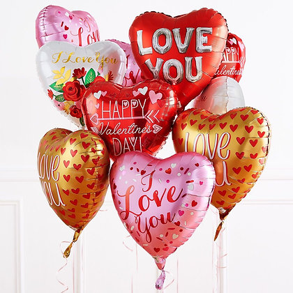 Foil valentines balloons