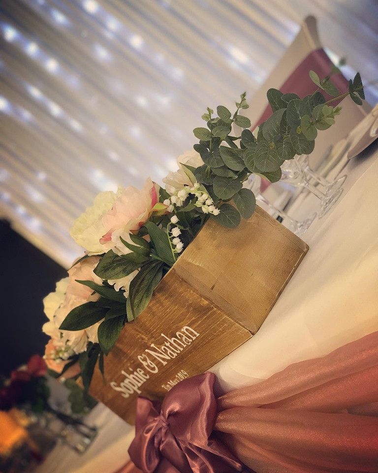 Just wanted to say a massive thank you for your help at the weekend, the venue looked absolutely stunning.  I'll be sure to recommend you to any friends who are getting married soon. Thank you so much!