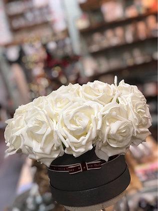 Artificial Rose Hatbox