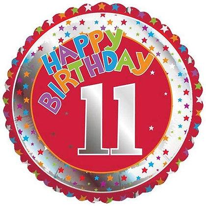 "18"" Helium Foil Balloon - Age 1-12"