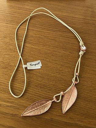 Cream & Rose Gold Necklace