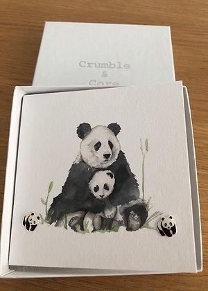 Crumble & Core Earring Card - Panda
