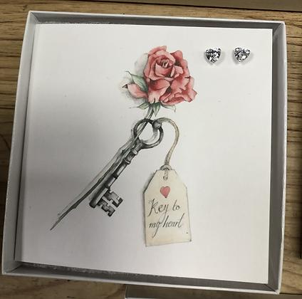 Crumble & Core Earring Card - key