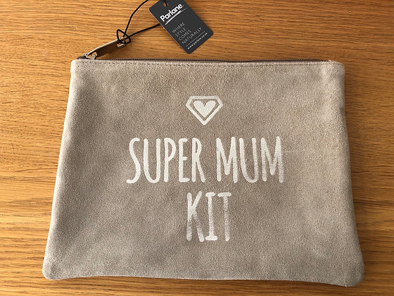 Super Mum Kit Leather Pouch
