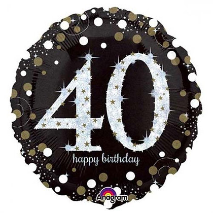 "18""Helium Foil Balloon - Age 18-100"