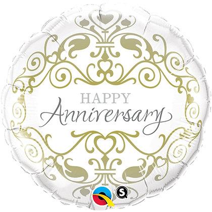 "18"" Helium Foil Balloon -Anniversary"