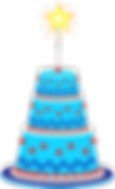 Free clipart cake and sparkler.