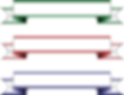 Free clipart banners green red blue.