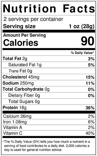 2 Oz Nutrition Label - Truffle.png