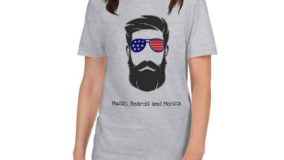 Music, beards and Merica Tee