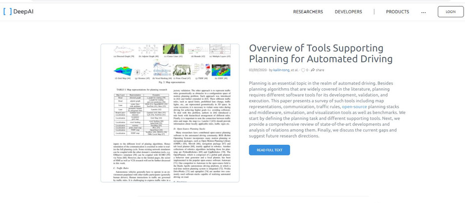 Tools Supporting Planning for Automated Driving