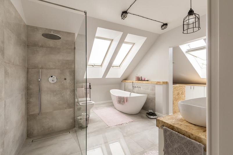 Salle de bains moderne AGENCE IMMÖÖ DUCAIR A VENDRE BARENTIN ROUMARE SAINT PIERRE DE VARENGEVILLE JUMIEGES