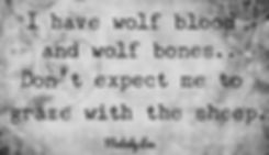 Wolf poem by Melody Lee