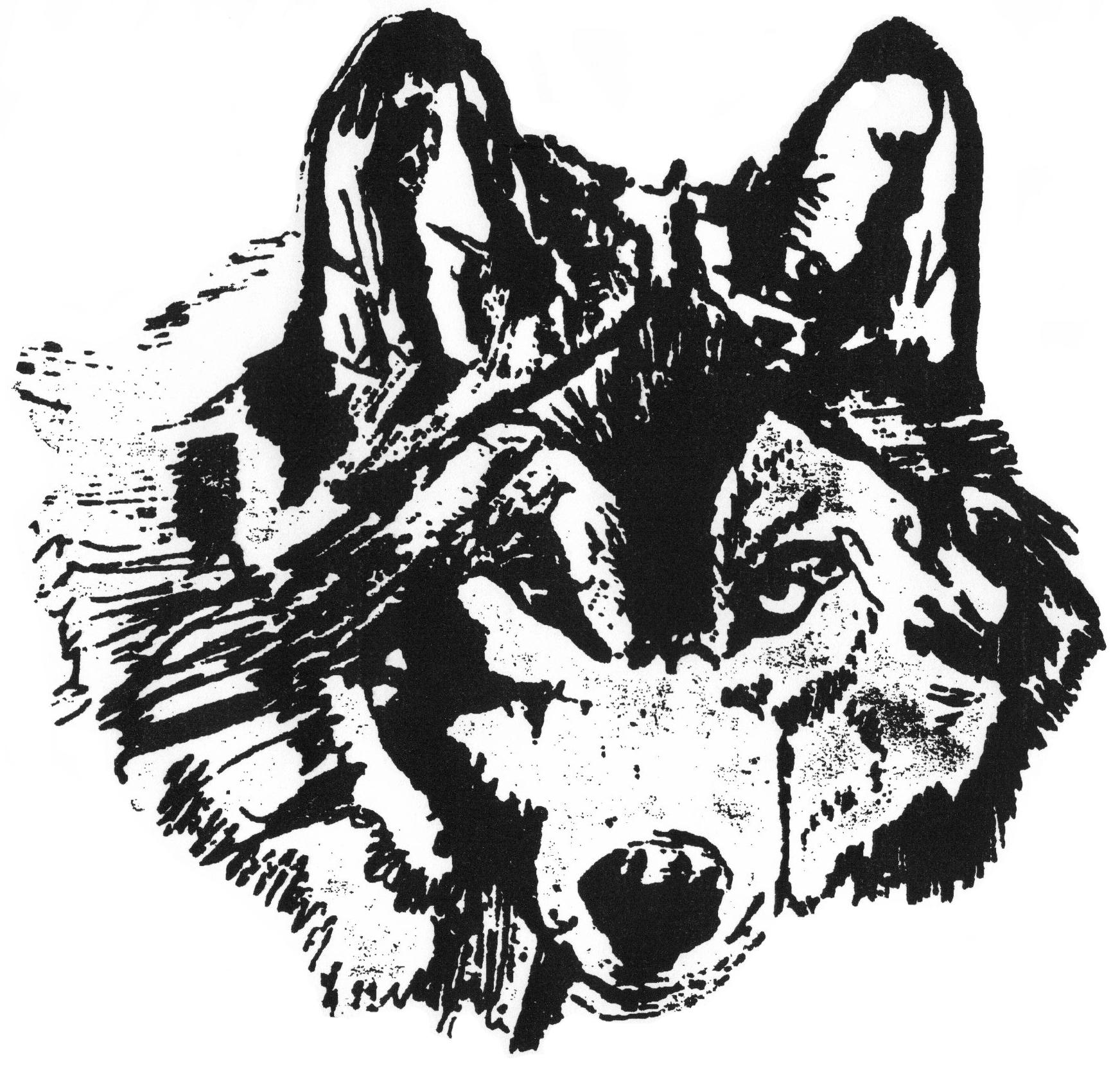 wolf mascot by greg manwaring