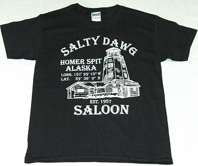 Salty Dawg Saloon T-Shirt from Homer, Alaska
