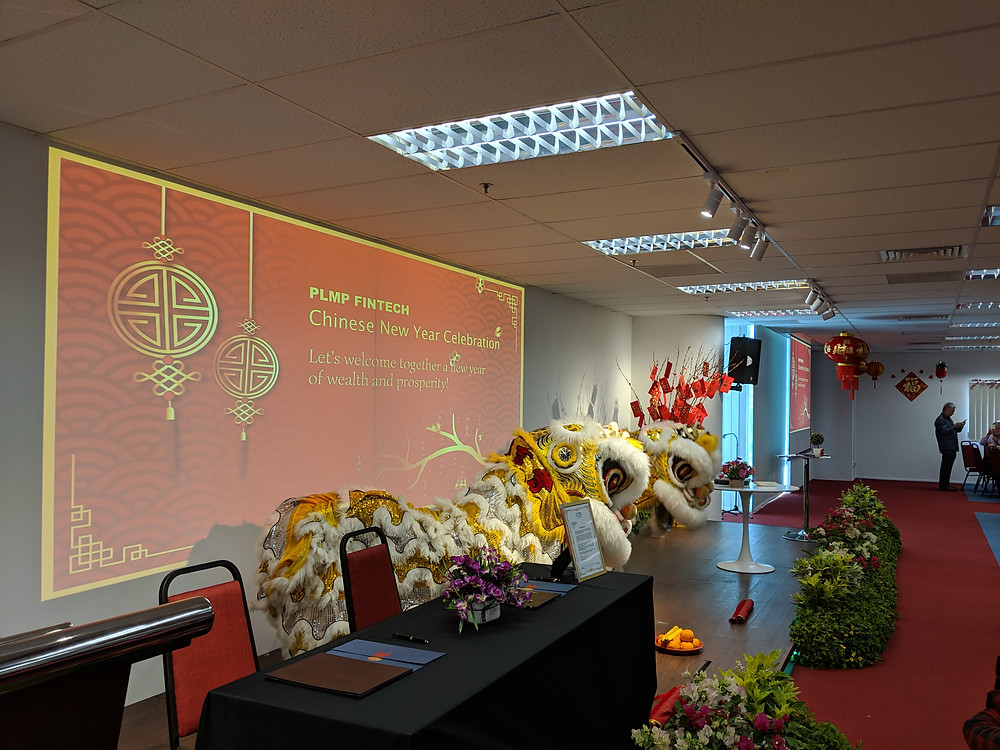 Emcee Singapore - Ainsley Chong, PLMP FinTech Chinese New Year Lunch