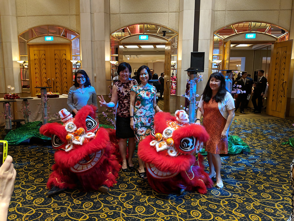 Emcee Singapore - Ainsley Chong, Millennium Hotels and Resorts CNY Lohei Dinner