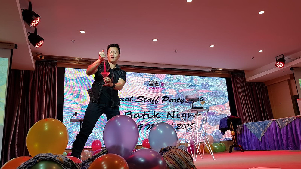 Emcee Singapore - Ainsley Chong, Hotel Royal Annual Staff Party