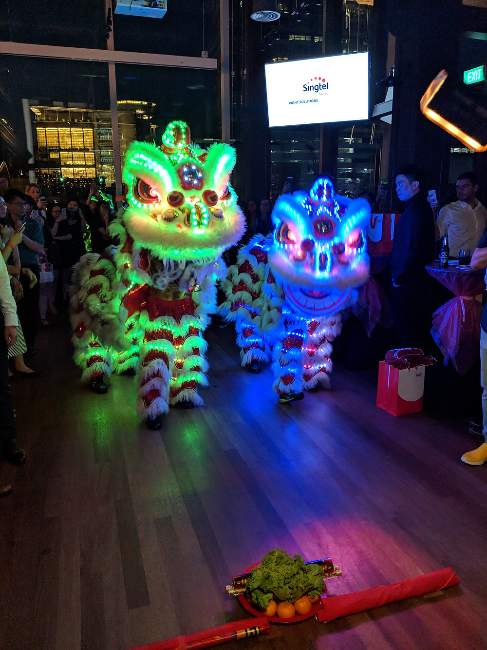 Emcee Singapore - Ainsley Chong, Singtel Media Lunar New Year Trade Dinner