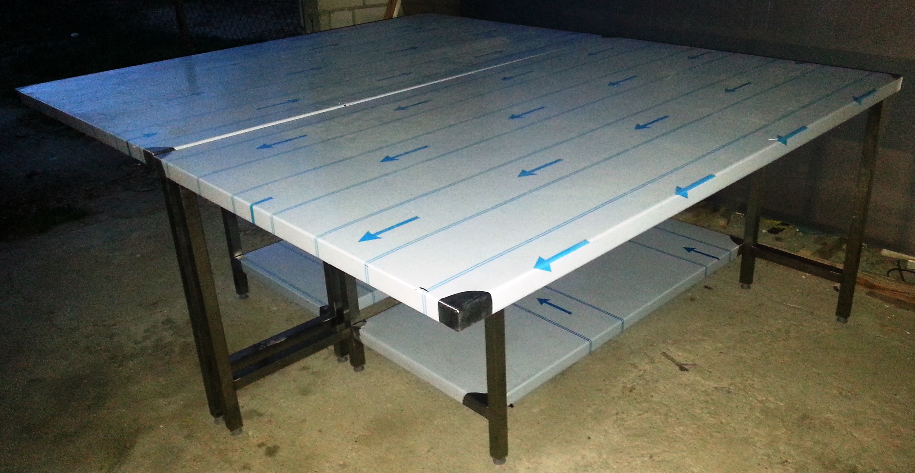 Sraigių rušiavimo stalas