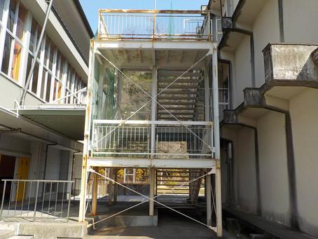 鉄骨部階段 塗装工事