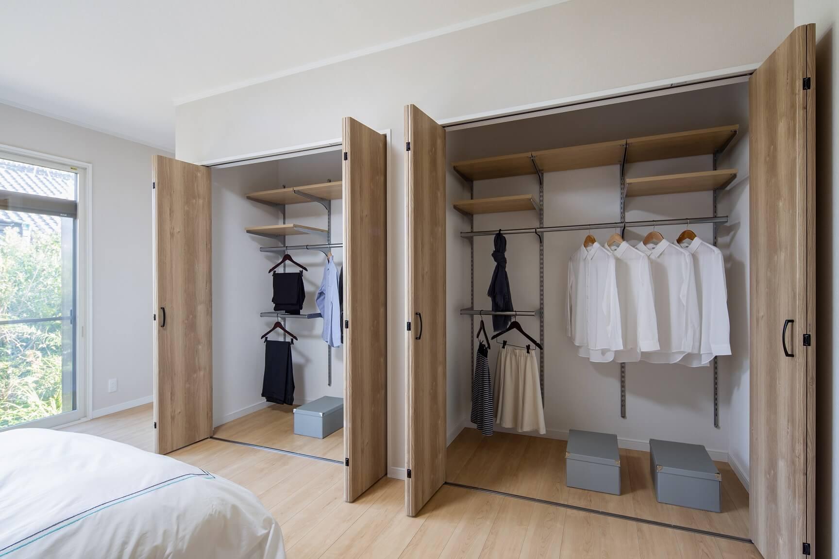寝室クローゼットafter