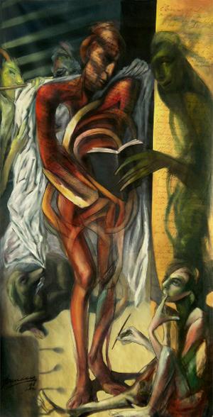 Humanista Rojo con Sombra Verde