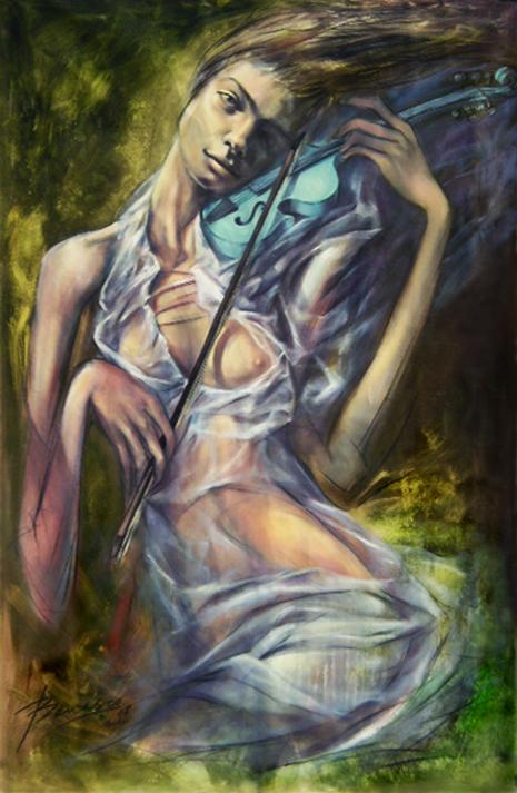 La Musa (Muchacha con Violin Azul)