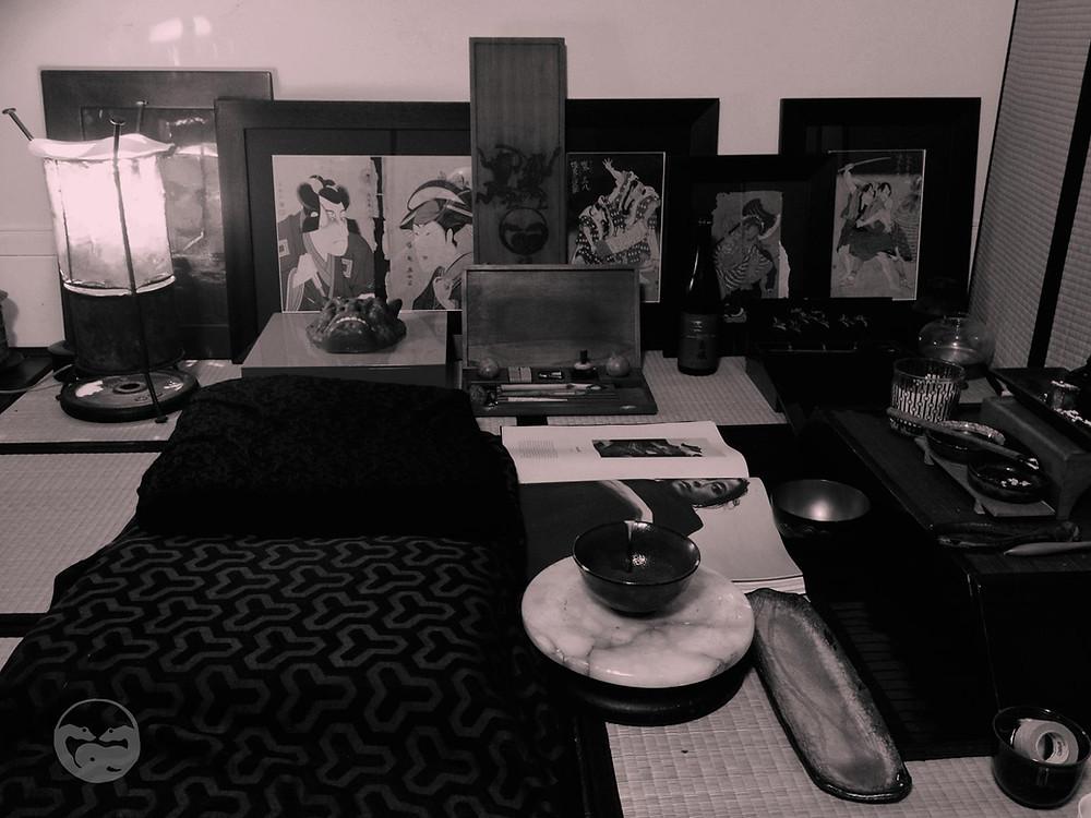 Atelier Do No Eko - Tatouage en technique traditionnelle ancienne - Tebori - Dragon