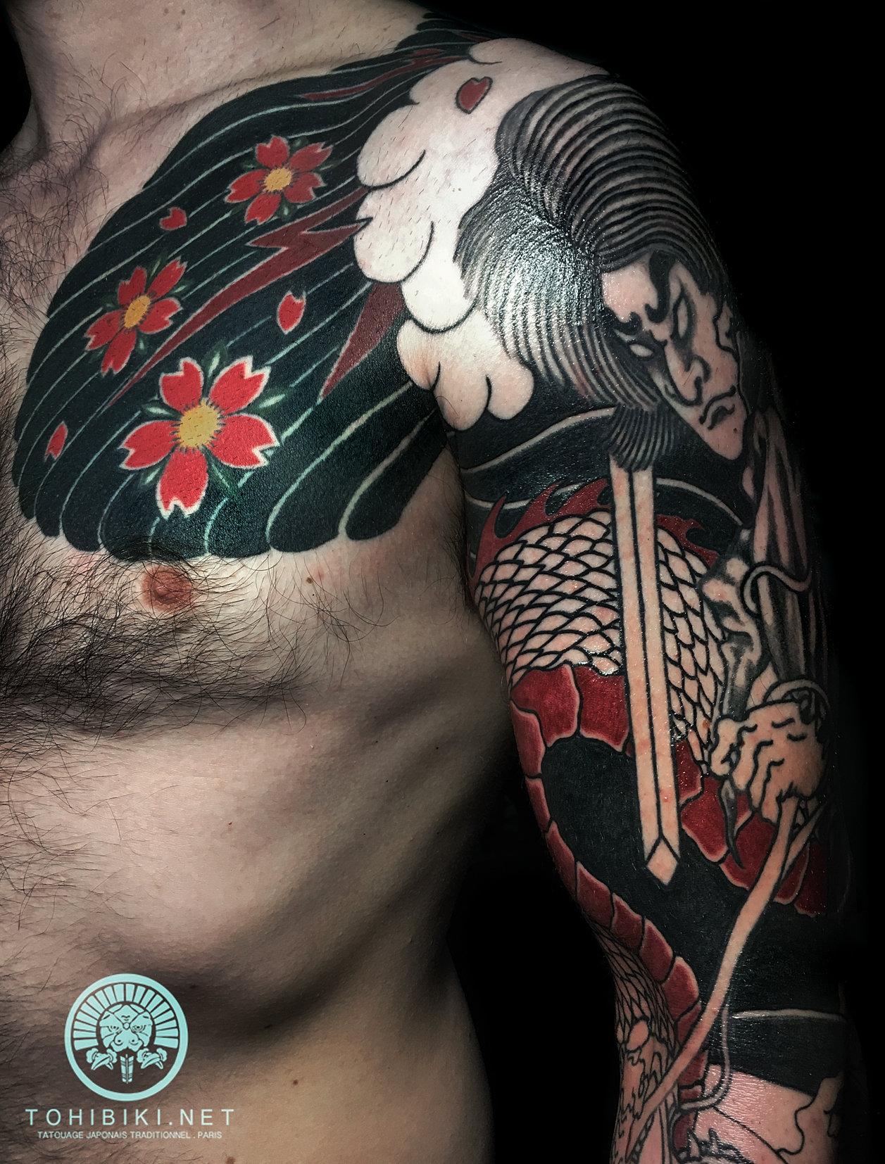 tatouage traditionnel japonais acquigny atelier do no. Black Bedroom Furniture Sets. Home Design Ideas