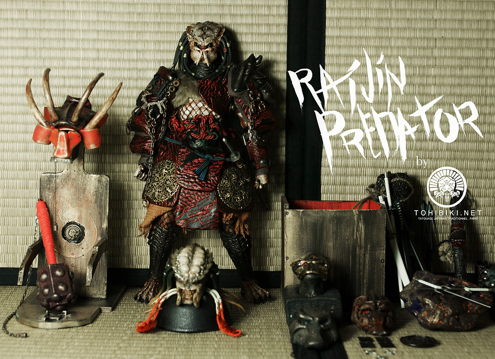 Hottoys Predator Samurai by Kuroi Tohibiki. Hot Toys Predator.