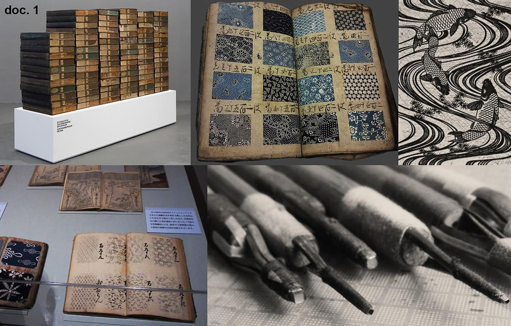 Katagami (型紙), archives, échantillons et outils