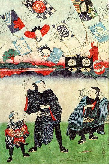 Différents motifs peints par des artistes sur les cerfs volants.