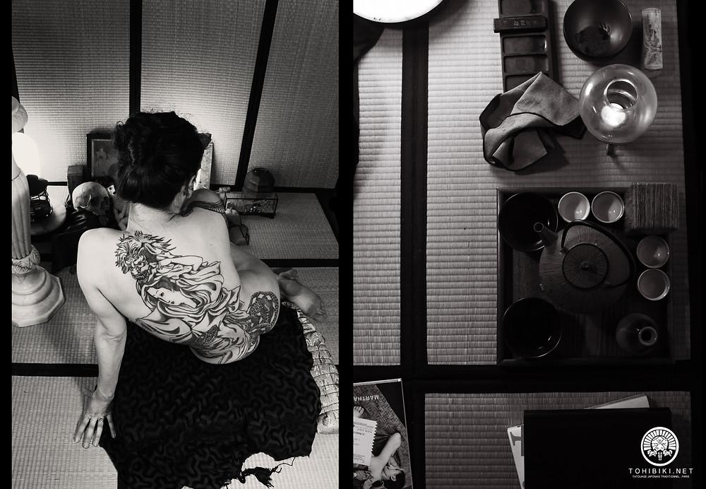 Irezumi, Bunshin. Tebori, technique ancienne. Tatouage japonais traditionnel. Paris et Normandie/Acquigny/Rouen..