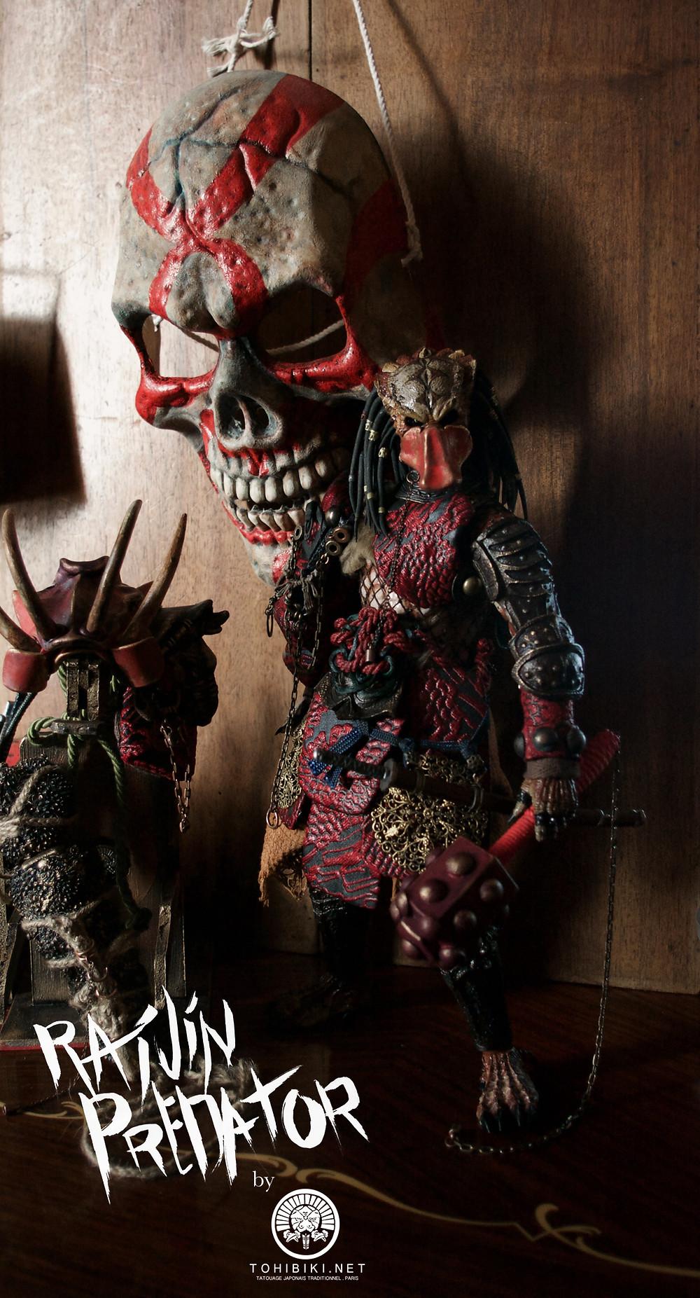 Hottoys Predator Samurai by Kuroi Tohibiki. Hot Toys Predator. IREZUMI, Paris.