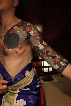"""Yozakura under sun eclipse"""