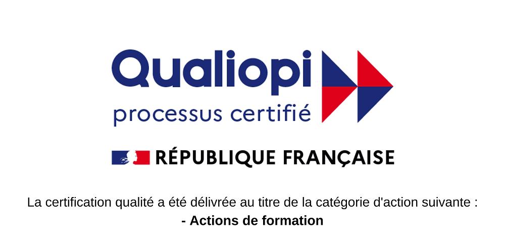 Un rôle à jouer, théâtre d'entreprise, vidéo et formation, est certifié Qualiopi au titre de la catégorie d'action suivante : actions de formation